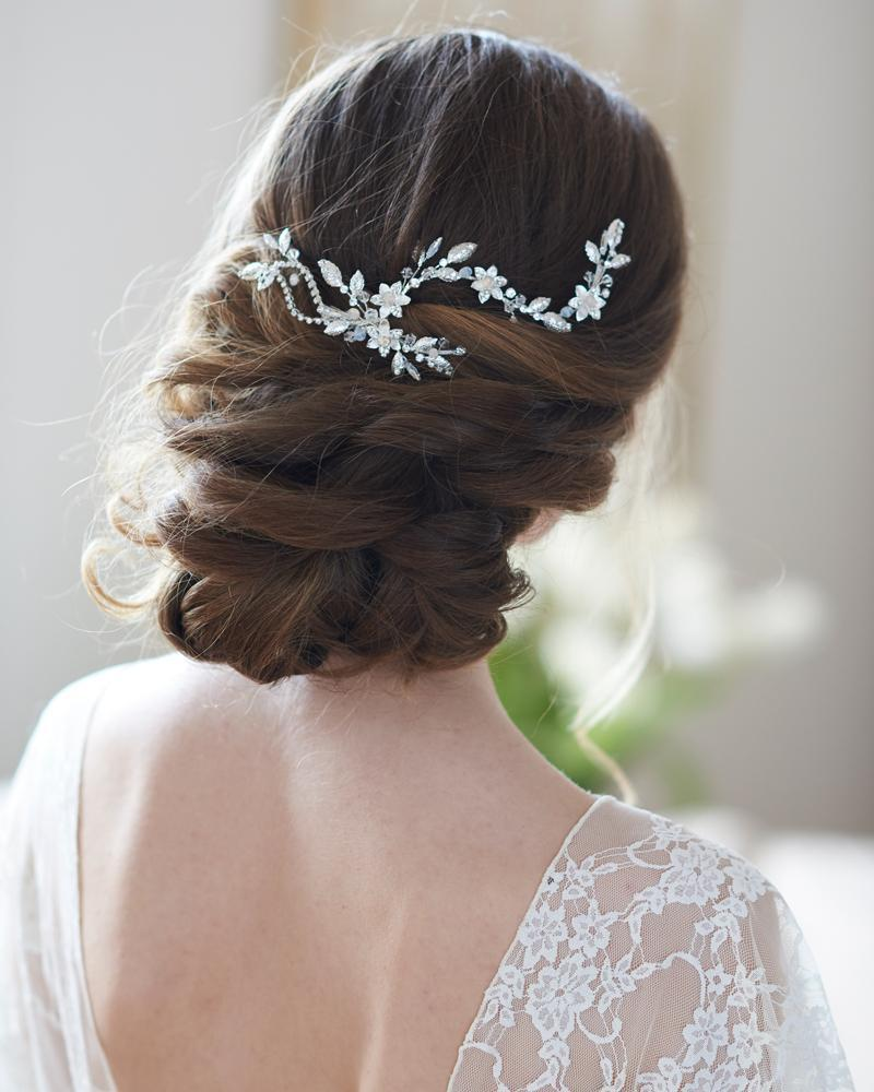 allura floral hair clip in 2019   bridal headpieces