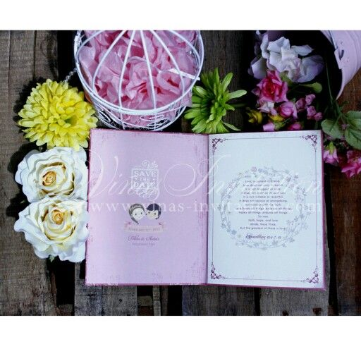 Vinas invitation Unique invitation Story invitation Story theme - wedding invitation design surabaya