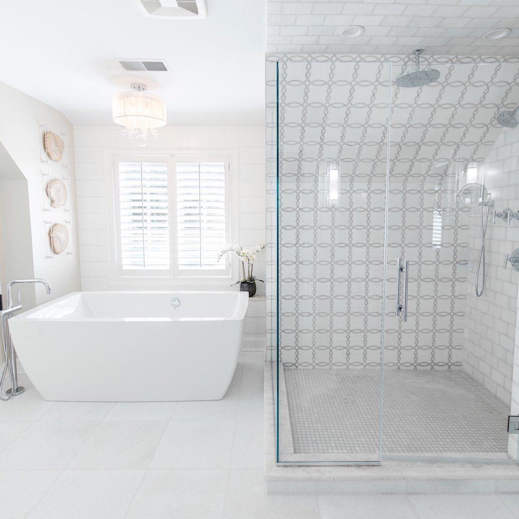 White Thassos Carrara Marble Waterjet Mosaic Interlocking
