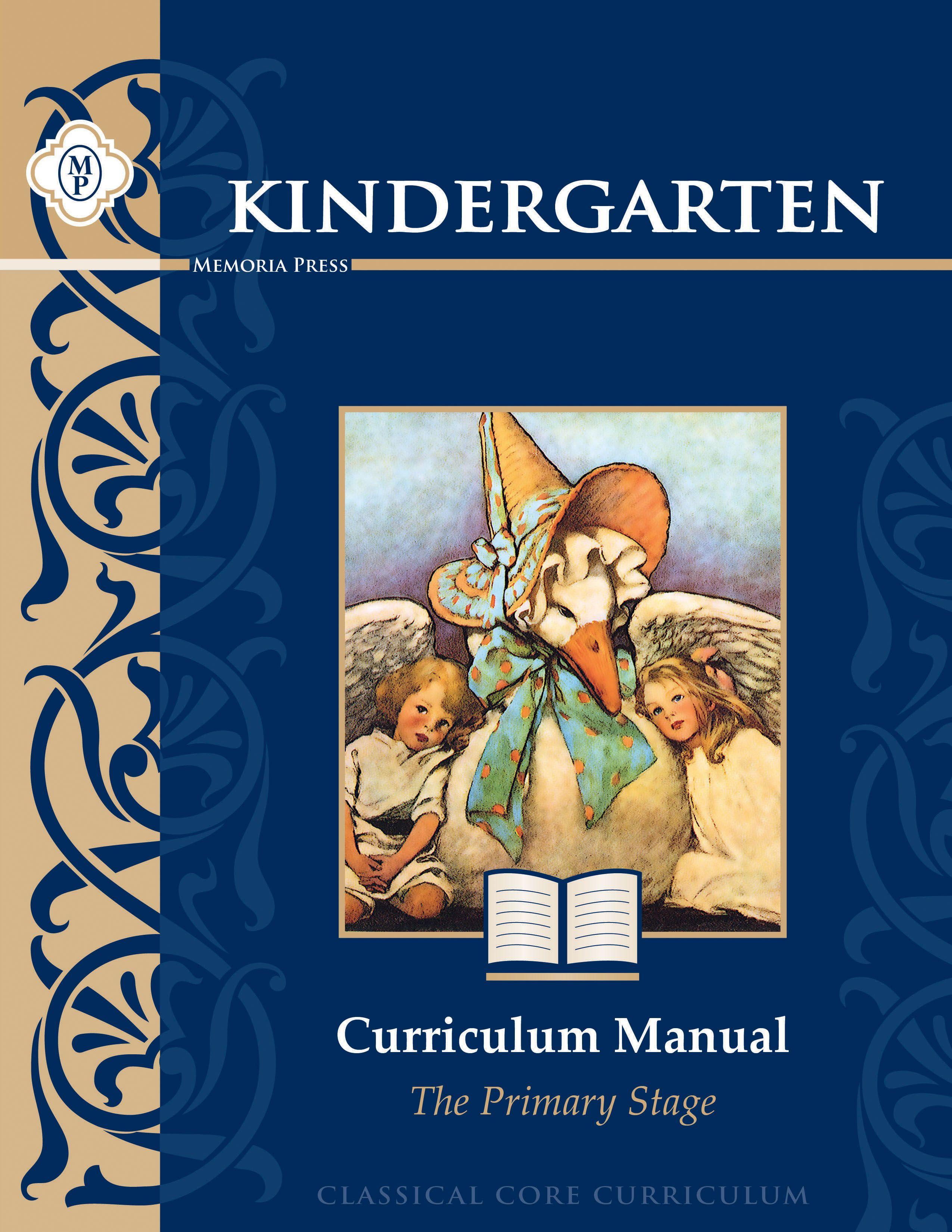 Kindergarten Curriculum Manual Memoria Press