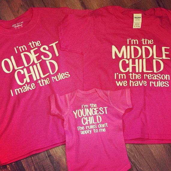 1fb5ae37a4 Funny Set Of 3 Sibling Rules shirts, Oldest, Middle, Youngest ...