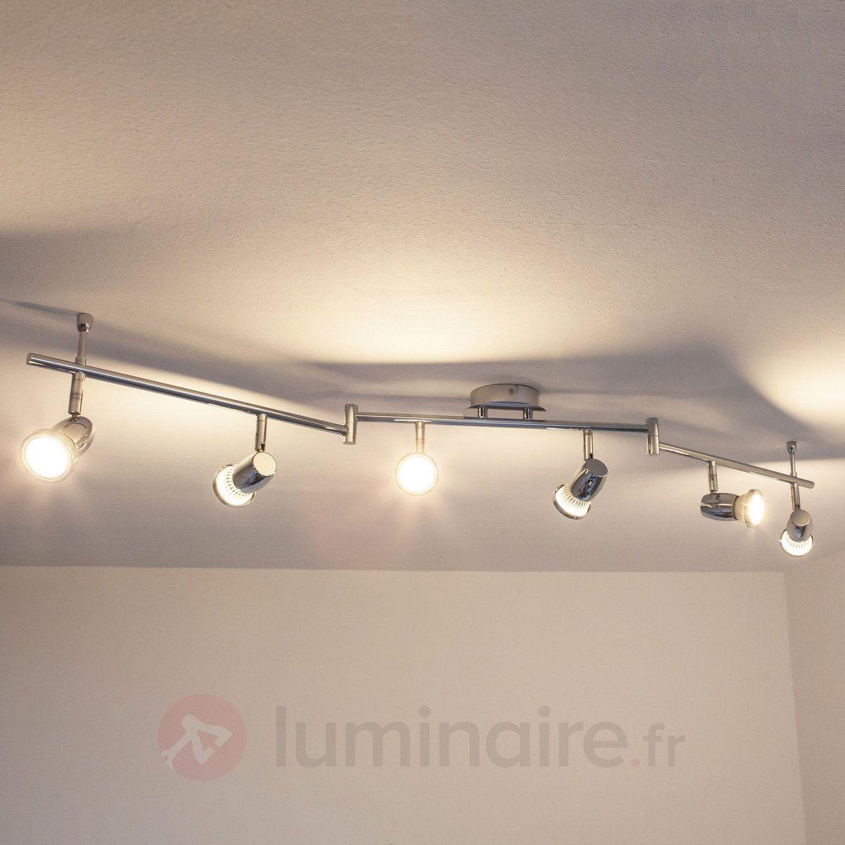 Plafonnier chromé led arminius à 6 lampes 9950375 bathroom lighting chrome salons singapore