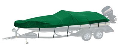 Bass Pro Shops Exact Fit Custom Boat Cover - Tahoe - 2002-2004 192 w/Top Down Aft I/O - Forest Green