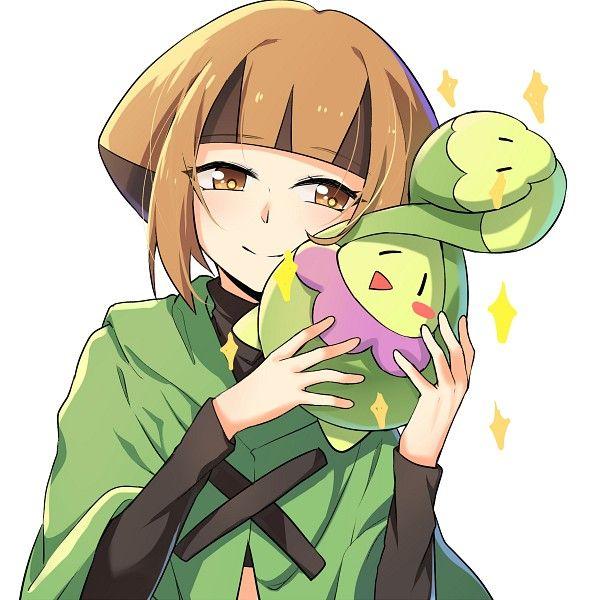 Gardenia And Budew By Poppy Pokemon Pokemon Images Anime