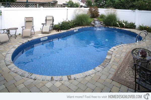 20 Exquisite Kidney Shaped Pool Designs Home Design Lover Kidney Shaped Pool Pool Landscaping Inground Pool Landscaping