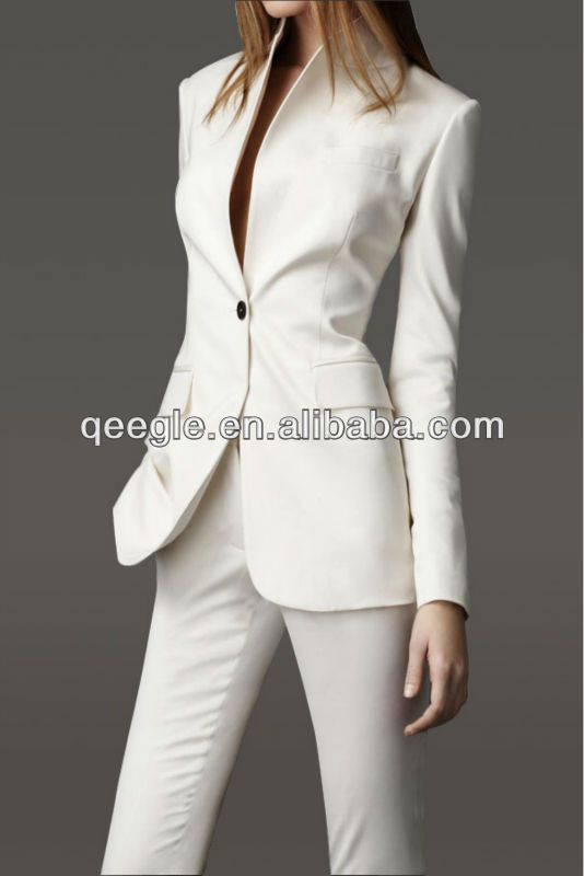 Lady business official formal white Pants Suit 2013(QG103-FS ...