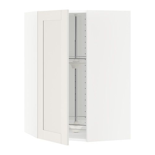 Best Metod Corner Wall Cabinet With Carousel White Sävedal 640 x 480
