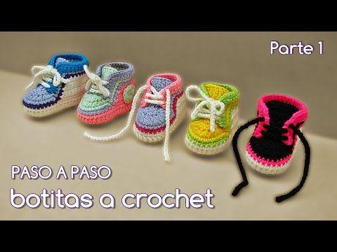 bec4692417aa75 Converse a crochet súper fácil - YouTube
