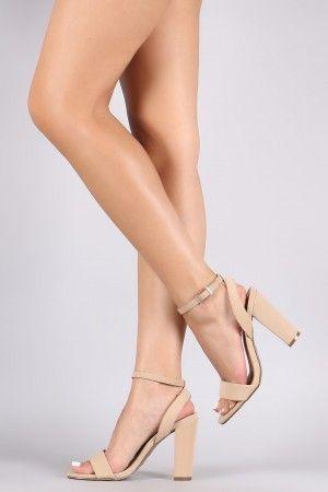6656d803d1 Champagne Heels, Footwear, High Heels, Chunky Heels, Ankle Strap, Leather  Men