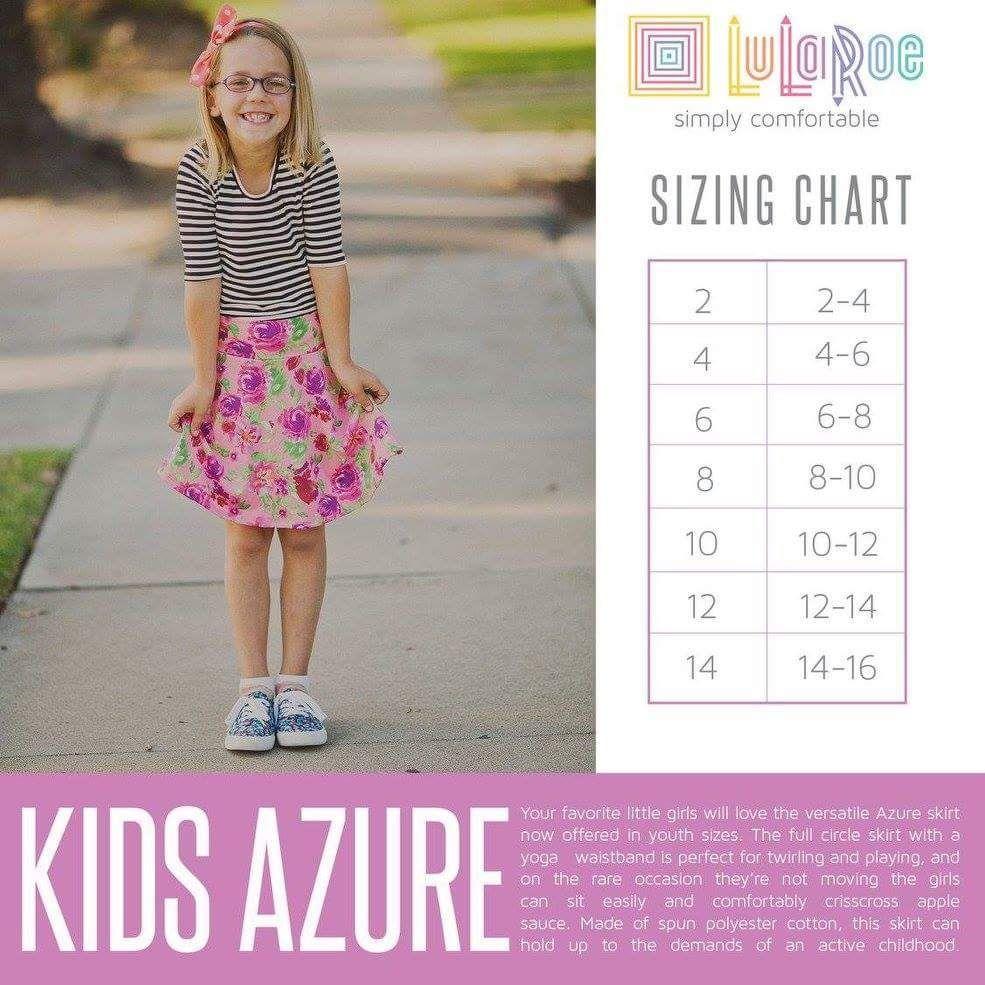 Kids Azure Size Chart Https Www Facebook Groups