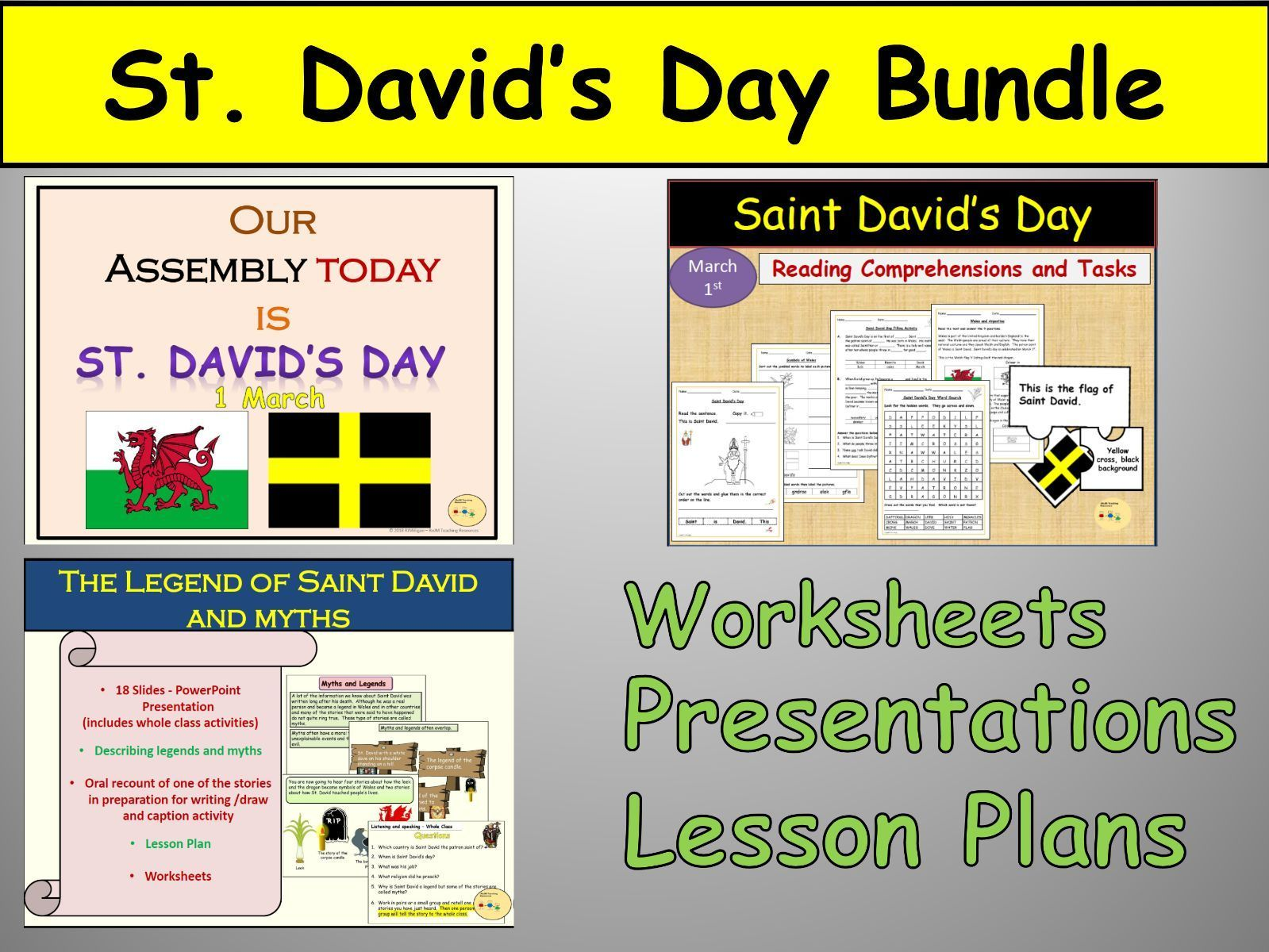 St David S Day Assembly Lesson Worksheets Jigsaw