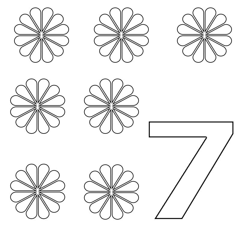 Number 7 Coloring Pages For Preschoolers For Toddlers With Images