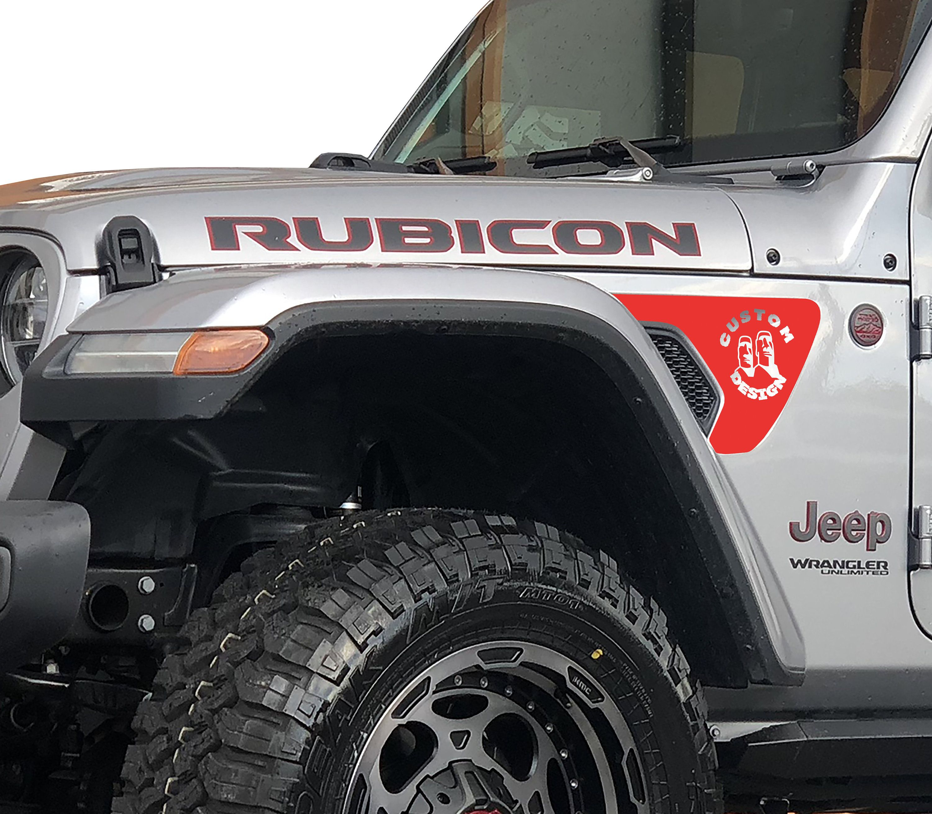 Jl Jt Fender Vent Custom Design Blackout Decal Pair Jeep