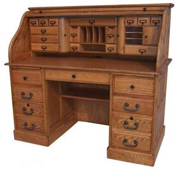 Roll Over Particle Board Desk ~ Deluxe roll top desk price inclludes shipping home