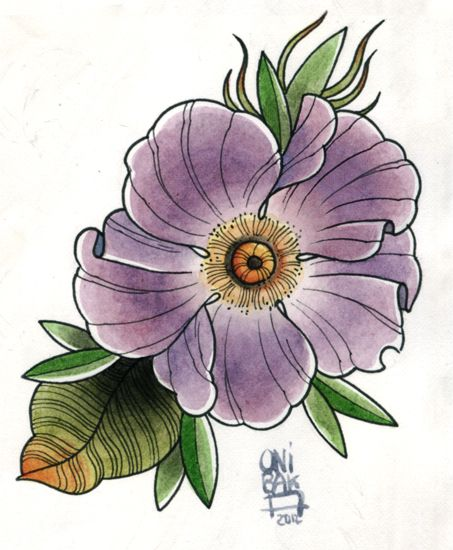 tattoo flower design by OniBaka on DeviantArt