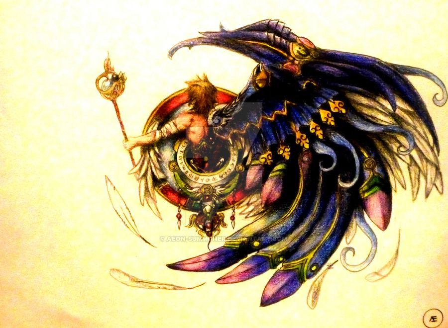 The Fayth Of Bahamut By Aeon Summoner Deviantart Com On Deviantart Final Fantasy Tattoo Final Fantasy Art Final Fantasy X