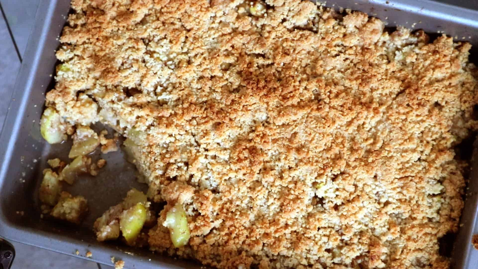 Keto Apple Crisp Recipe Apple crisp, Low carb keto