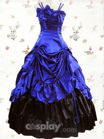 Sapphire Ruffled Classic Lolita Dress