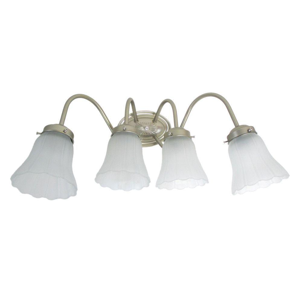 Epiphany Lighting 106034b Bn 105220 Four Light Bath Wall Fixture In Brushed Nickel Finish