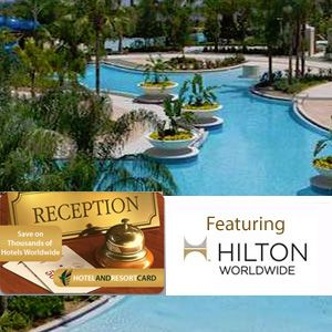 Give the gift of travel with this $40 deal for a $500 hotel and resort card and e-Gift Card, featuring Hilton Worldwide! 92% Off! #HalfOffDeals #HiltonWorldwide #TravelDeals #GiftOfTravel