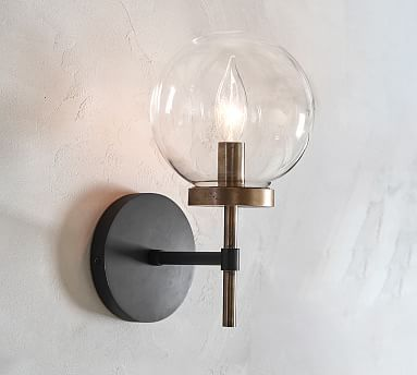 Camryn Glass Sconce In 2020 Sconces Glass Chandelier