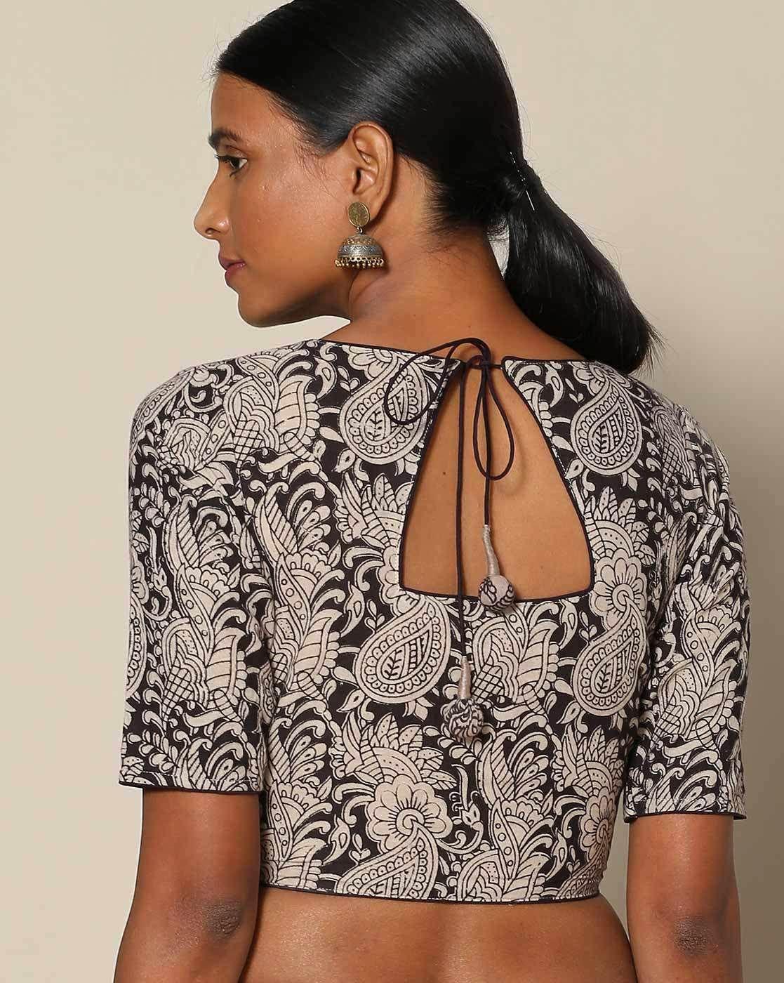 Saree blouse design for cotton saree  simple blouse back neck designs for cotton sarees  shweta