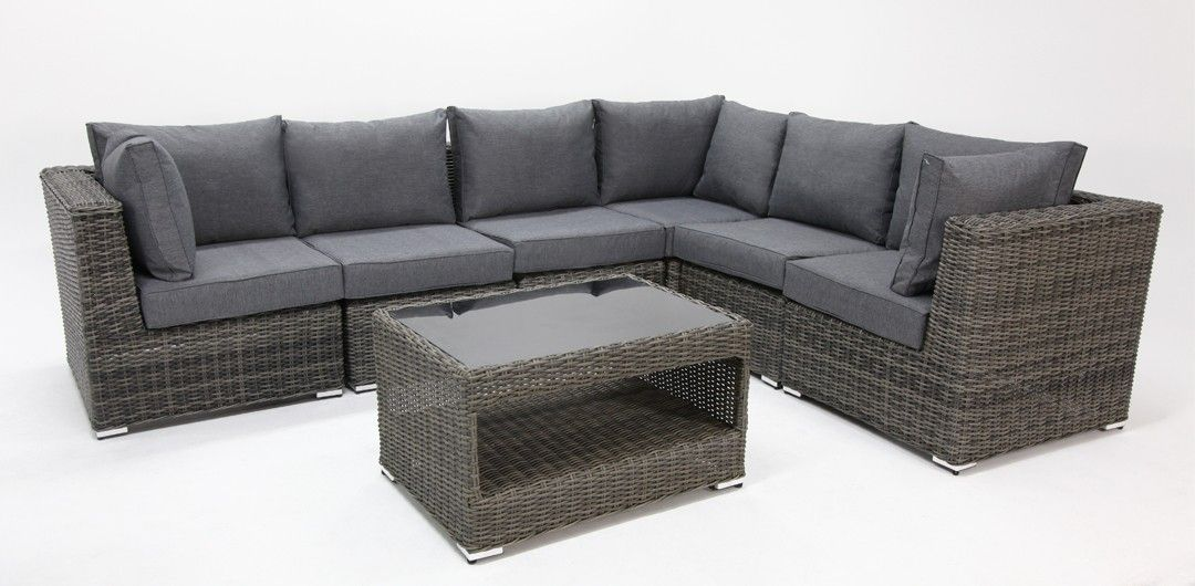 Choose Amani 7 piece premium modular lounge setting with