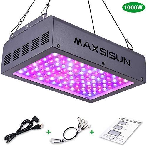 New Maxsisun 1000w Led Grow Light Full Spectrum Led Grow Lights Indoor Plants Veg Flowering Hydroponic Growing System Plant Growing Lamps Cover 2 2 2 2ft Flow In 2020 Led Grow Lights Grow Lights