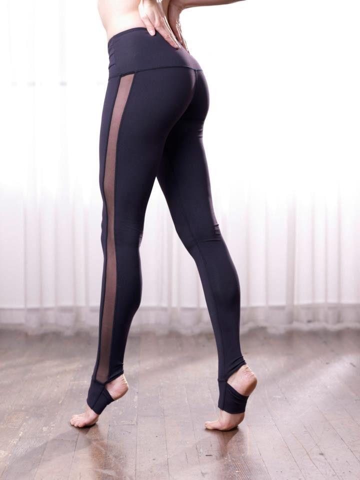 82f953efc7eb70 Yoga Leggings via Fitness Apparel. Karma Tight Elsie Tuxedo style open heel