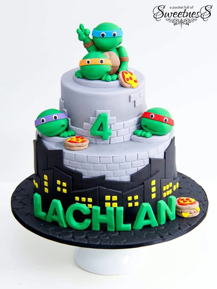 Ninja Turtles Birthday Cake Ninja Turtles Made Out Of Buttercream Icing Called Figured Piping Ninja Turtle Birthday Cake Cake Butter Cream
