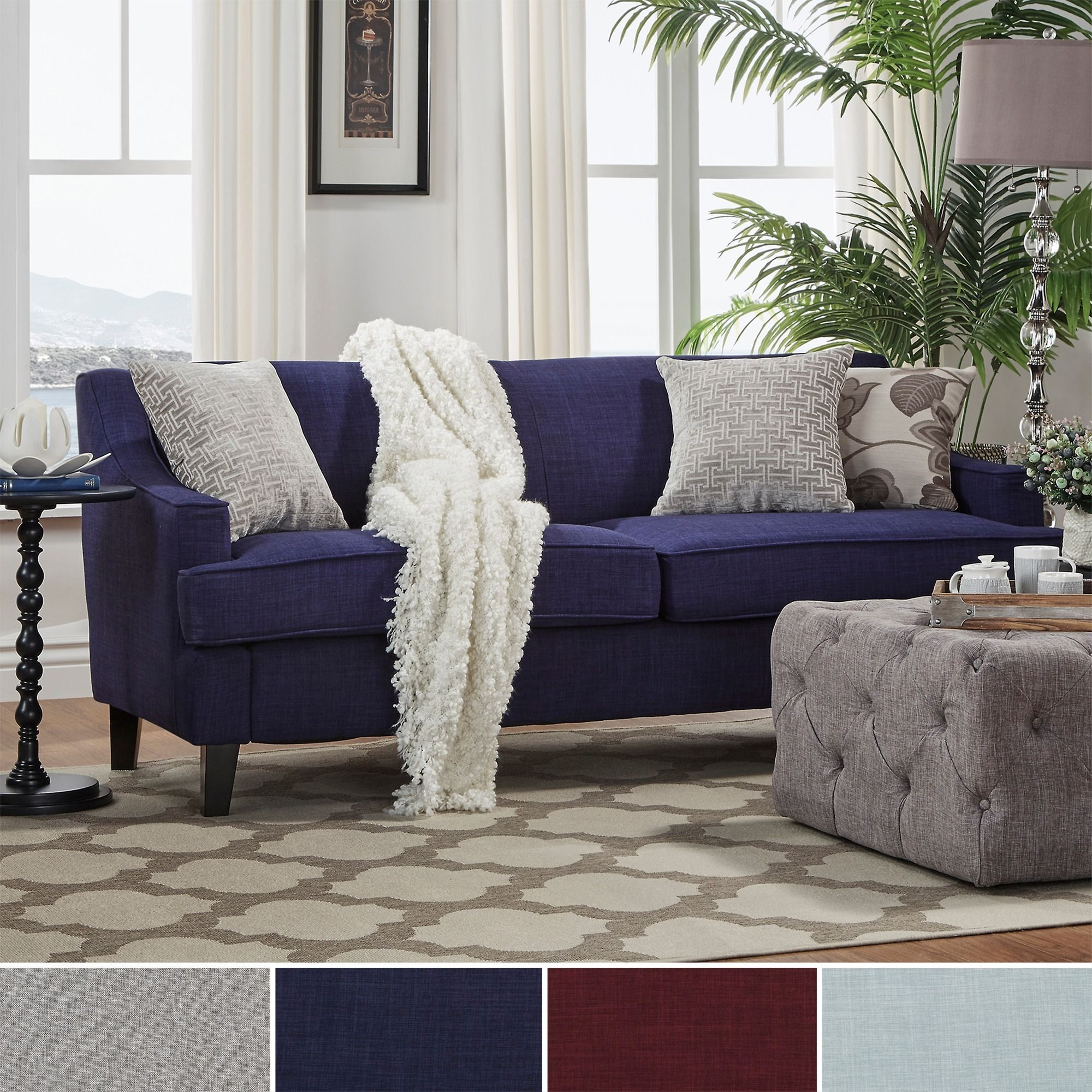 Rejuvenate your living space with this stunning sofa. The two-cushion long  sofa features