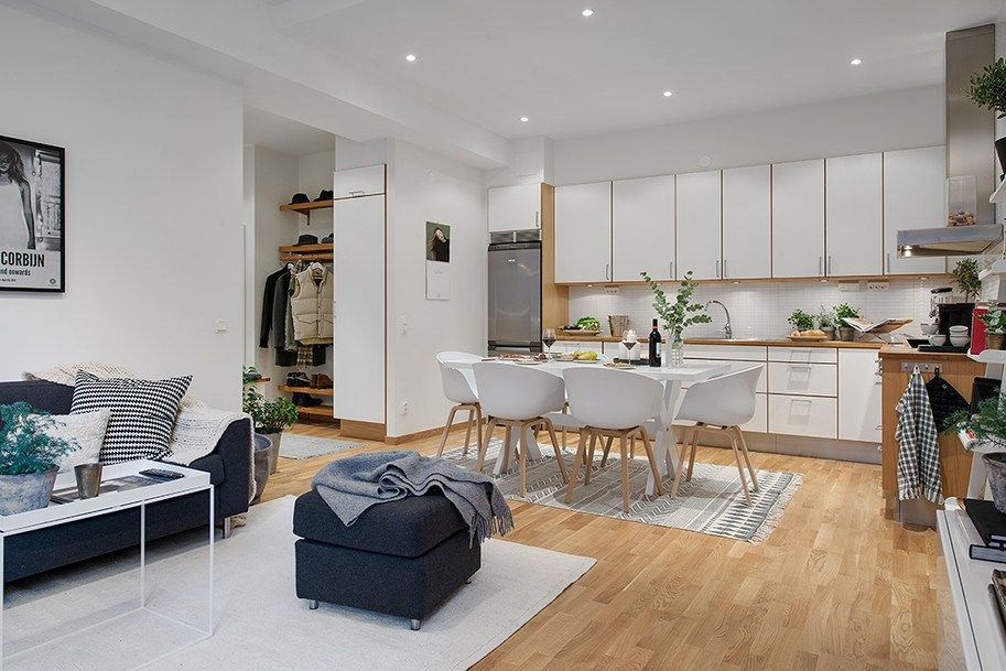 54 m² nórdicos que parecen el doble | salons