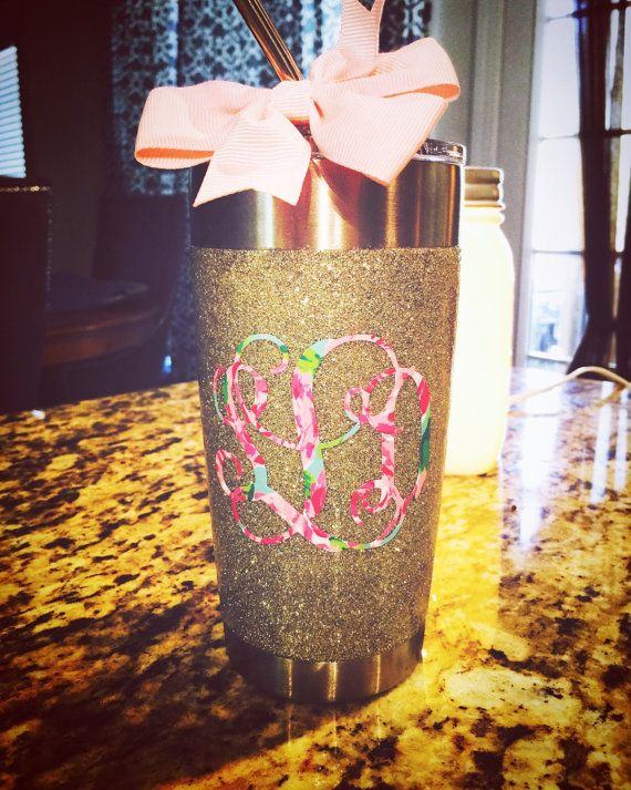 White Gold Glitter Tumbler Available In All Sizes 10 Oz