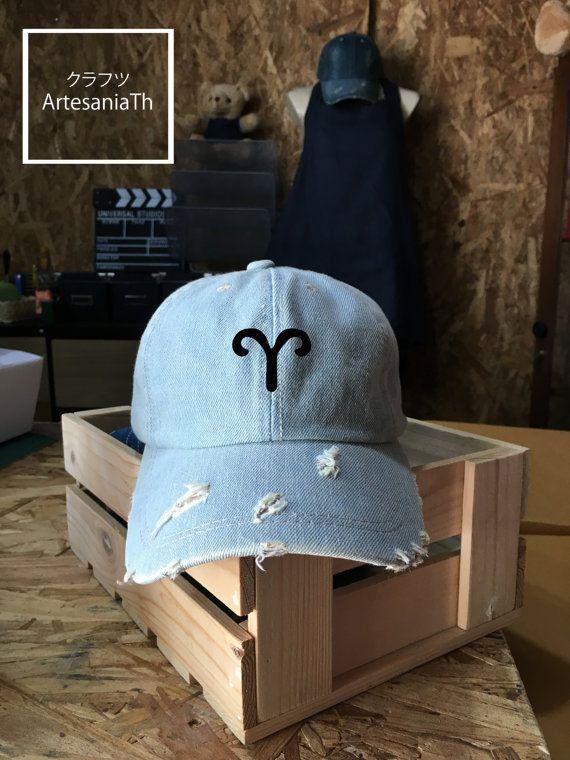 Zodiac hat Denim Cap, Jean Cap, Zodiac Tumblr hat , Low-Profile Baseball Cap Hat