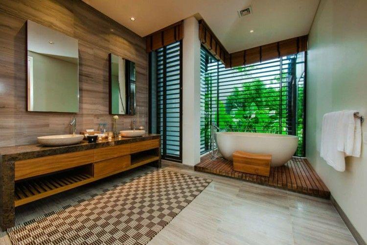 Teppich Badezimmer ~ Modernes badezimmer mit wandfliesen in holz optik bathroom