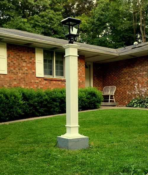 Diy hide an ugly exposed well head with a custom wooden lamp post diy hide an ugly exposed well head with a custom wooden lamp post and solar aloadofball Image collections