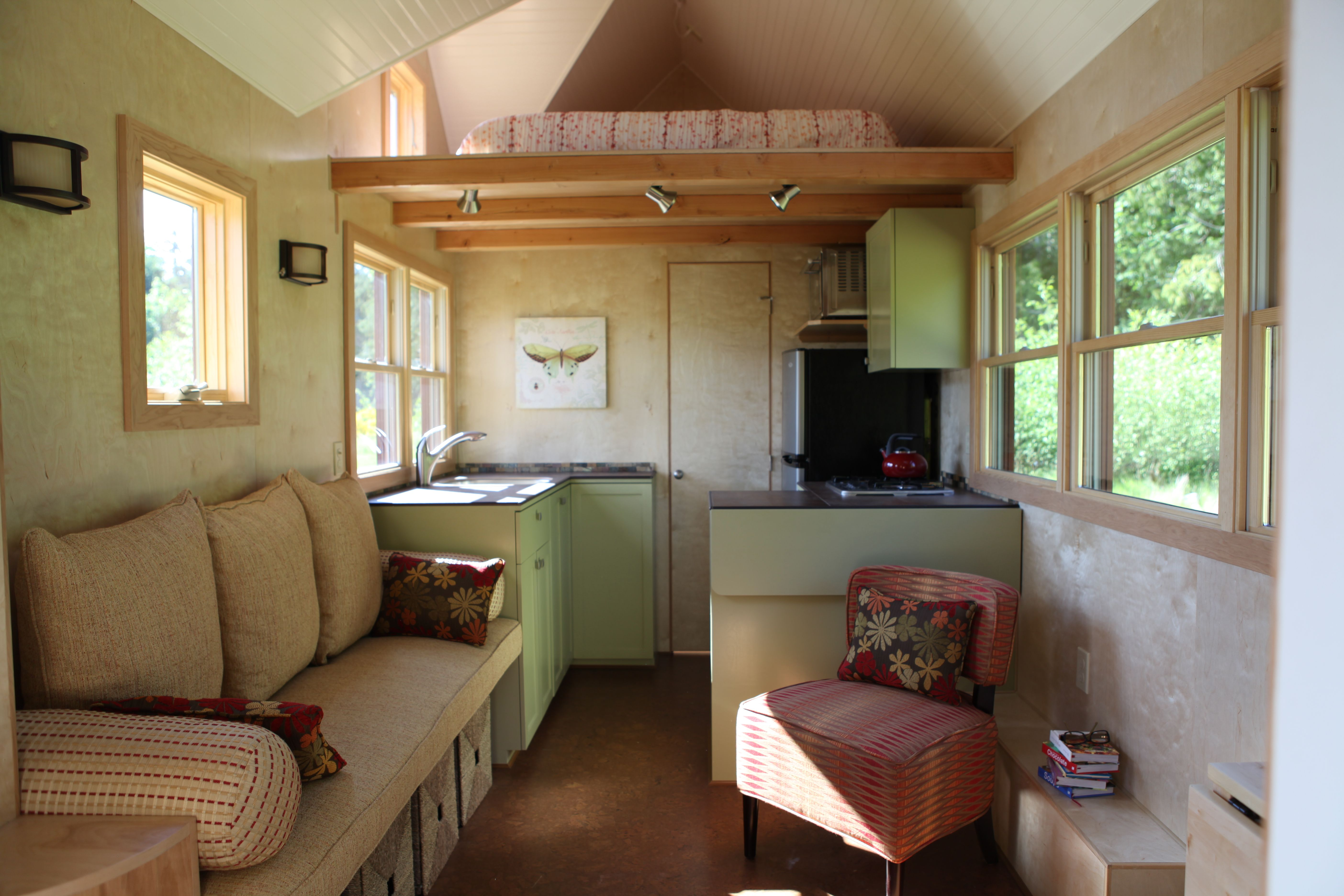 Inside seattle tiny homes  really like the different layout lofts and bathroom is at opposite end  washer dryer also rh br pinterest
