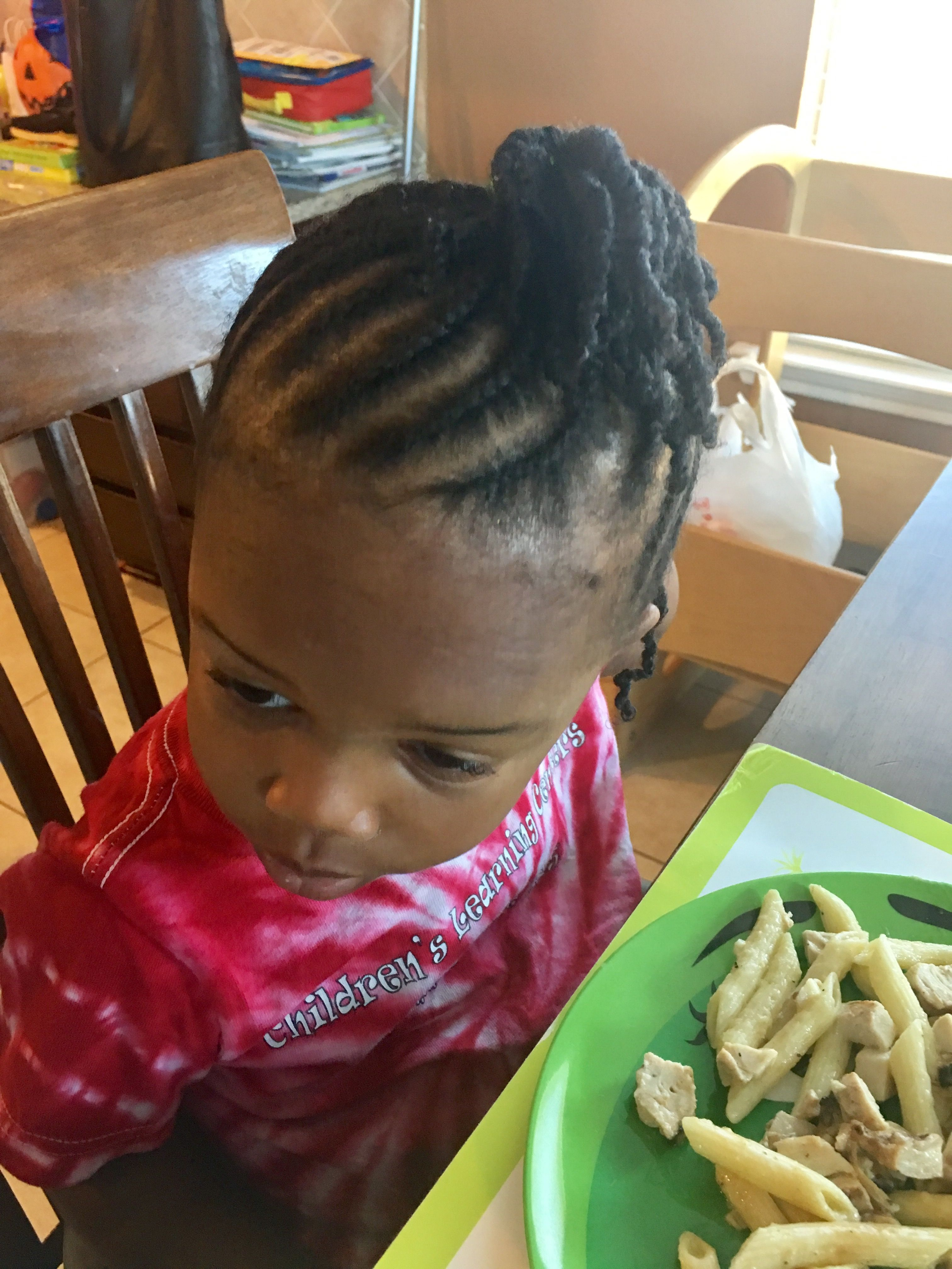cornrows and twists - toddler natural hair style | chocolate baby