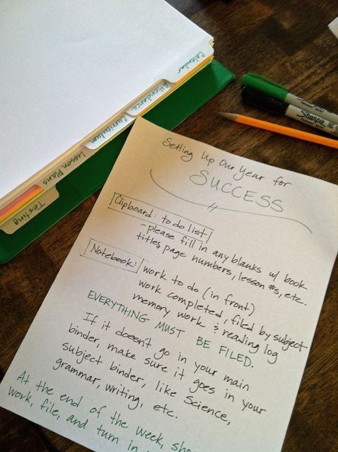 Organizing Tricks for the New School Year - tried and true methods for being more on top of it for school.