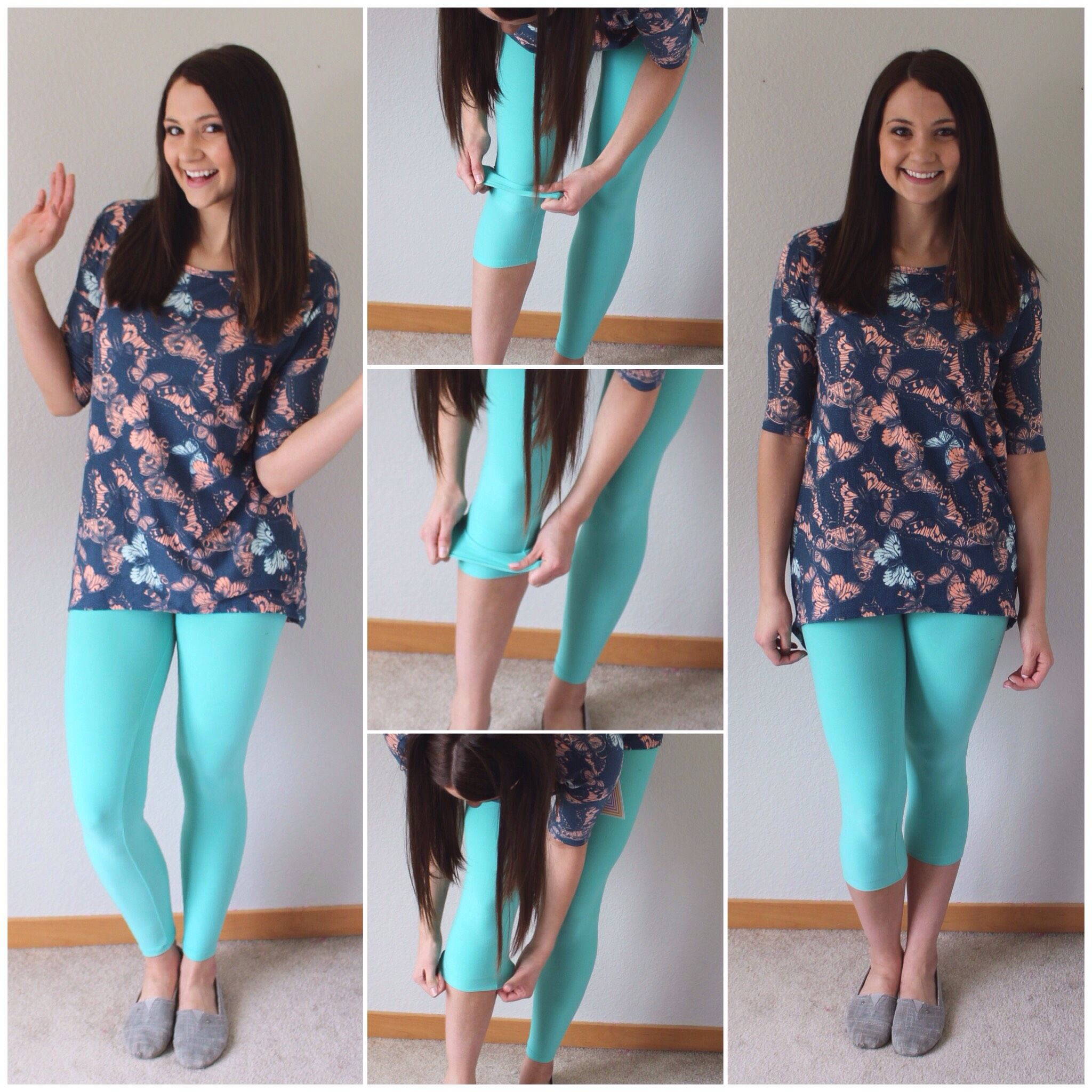 a4d51309c5 Wear #leggings full length or use this technique for capris! #lularoe # outfit…