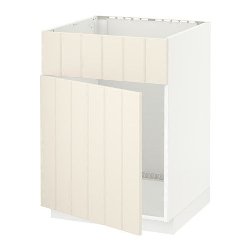 METOD Base cabinet f sink w door/front White/hittarp off ...