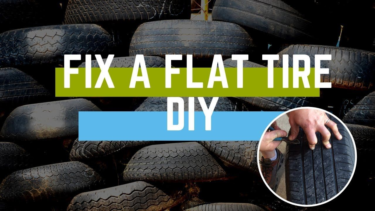 How to Fix a Flat Tire DIY with Puncture Repair Kit Flat