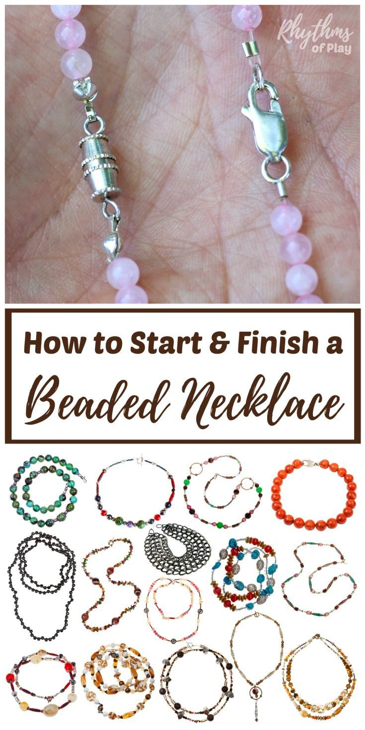 How To Start And Finish A Beaded Necklace Or Bracelet Diy