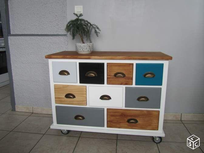Buffet commode chiffonnier meuble tiroirs bois DIY Pinterest