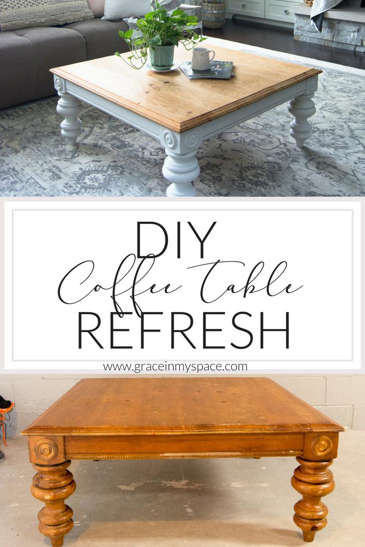 DIY Coffee Table Coffee table makeover, Diy coffee table