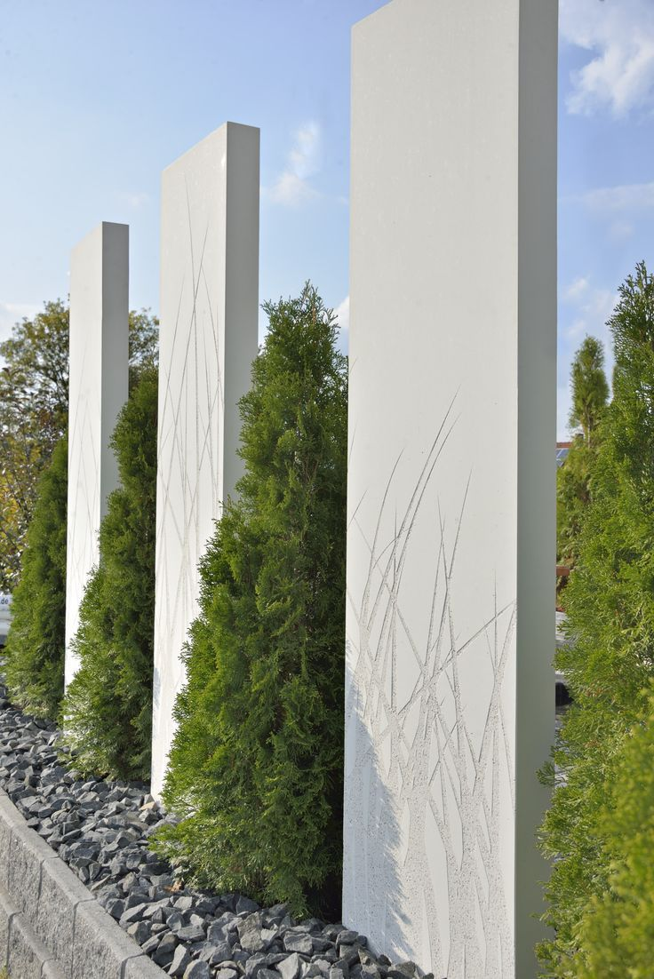 Room Divider For The Concrete Garden Raumteiler Beton Stele