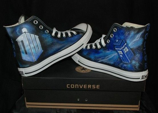 70fd6a21c6d383 Doctor Who Chuck Taylor Converse Shoes For the Dr. Who fans!