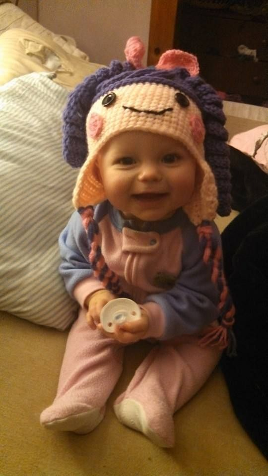 Isabella wearing my little dolly hat | My Hats | Pinterest