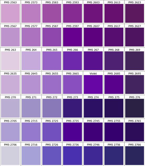 Pantone 275 The Purple Ish Navy Blue Color I Chose Since This Might Be Hard To Get Just Deep Blue N Pantone Color Chart Purple Color Chart Pms Color Chart