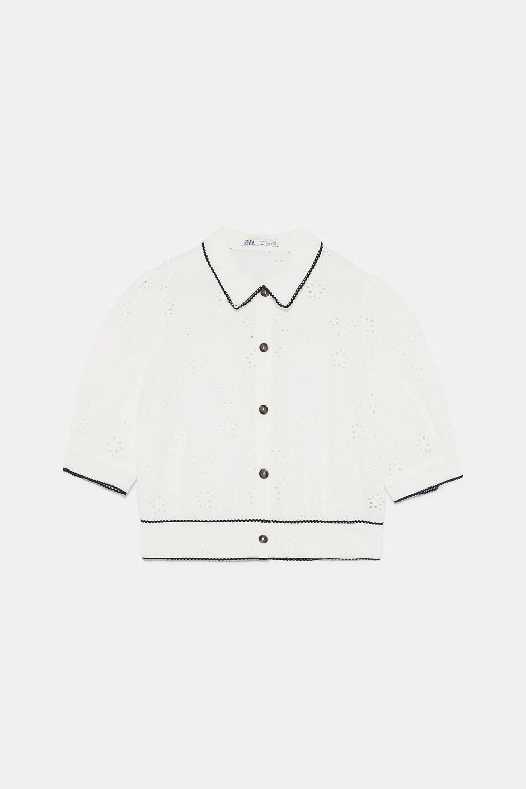 Shirt With Cutwork Embroidery In 2020 Shirt Embroidery